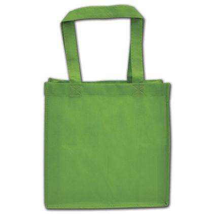 """Spring Green Non-Woven Shoppers, 10 x 5 x 10"""""""