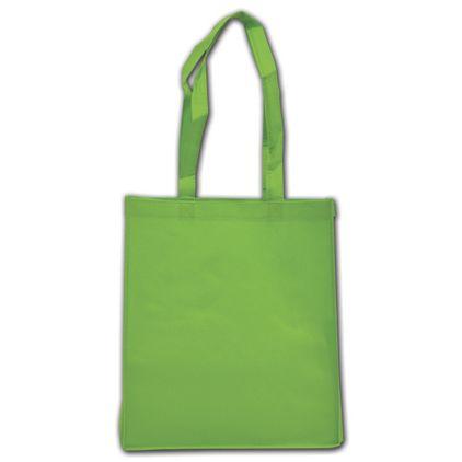 """Spring Green Non-Woven Shoppers, 13 x 6 x 15"""""""