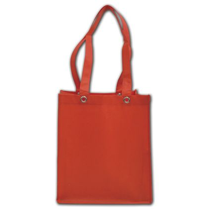 """Red Non-Woven Food Service Bags, 12 x 10 x 14"""""""
