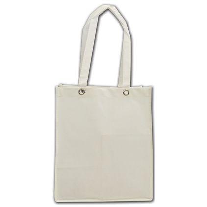 "White Non-Woven Food Service Bags, 12 x 10 x 14"""
