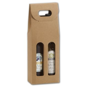 Kraft 2 Bottle Olive Oil Carriers, 4 1/4x2 1/8x12