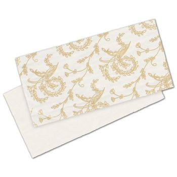 White Patterned Glassine Pads, 5 3/8 x 2 5/8