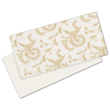 White Patterned Glassine Pads, 5 3/8 x 2 5/8""