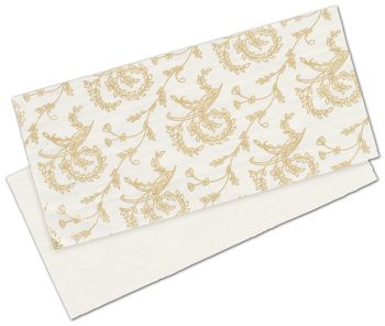 White Patterned Glassine Pads, 7 x 3 1/4