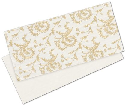 White Patterned Glassine Pads, 7 x 3 1/4""