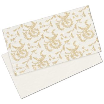 White Patterned Glassine Pads, 7 1/4 x 3 7/8