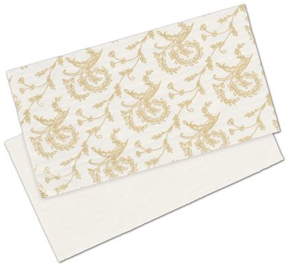 White Patterned Glassine Pads, 7 1/4 x 3 7/8""