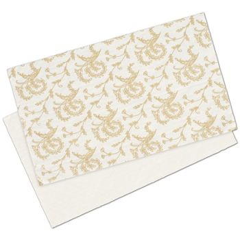 White Patterned Glassine Pads, 9 1/4 x 5 1/2