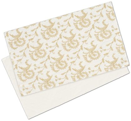 White Patterned Glassine Pads, 9 1/4 x 5 1/2""