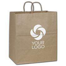 Printed Recycled Kraft Paper Shoppers Take Home