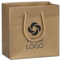 """Printed Gold Dust Matte Euro-Totes, 6 1/2 x 3 1/2 x 6 1/2"""""""
