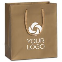 """Printed Gold Dust Matte Euro-Totes, 8 x 4 x 9"""""""
