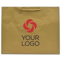 """Printed Gold Dust Matte Euro-Totes, 16 x 4 3/4 x 13"""""""