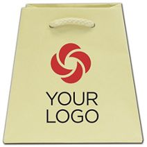 Printed Ivory Matte Inverted Trapezoid Euro-Tote 4 1/2x4x6
