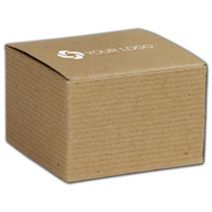 """Printed Kraft One-Piece Gift Boxes, 3x3x2"""""""