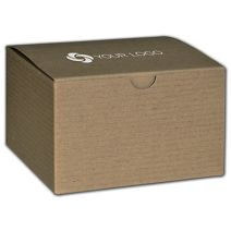 """Printed Kraft One-Piece Gift Boxes, 5x5x3"""""""