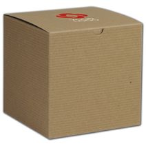 """Printed Kraft One-Piece Gift Boxes, 6x6x6"""""""