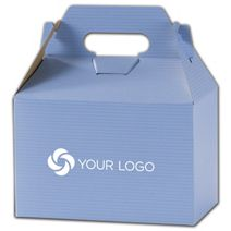 Printed French Blue Varnish Stripe Gable Box 8x4 7/8x5 1/4