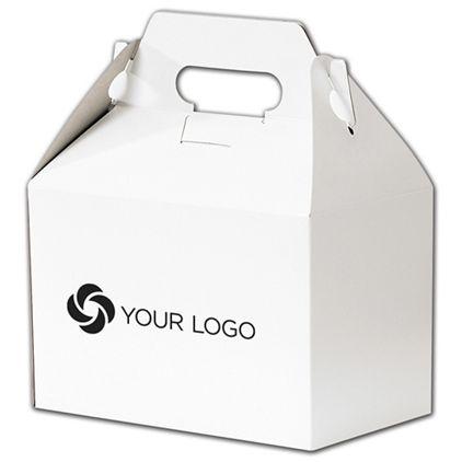 """Printed White Gable Boxes, 8 x 4 7/8 x 5 1/4"""""""