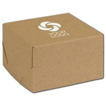"""Printed Natural Kraft Two-Piece Expandable Boxes, 5x5x3"""""""