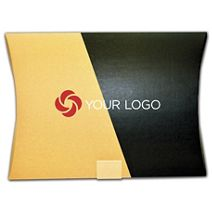 Printed Kraft and Black Corrugated Pillow Box, 14 1/4x2x19