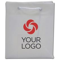 """Printed Clear Frosted Euro-Totes, 6 x 3 x 7"""""""