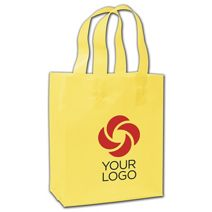 """Printed Chamois Frosted Flex-Loop Shoppers, 8 x 5 x 10"""""""