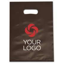 """Printed Espresso Frosted Die-Cut Merchandise Bags, 9 x 12"""""""