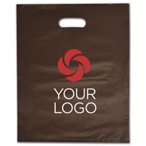 """Printed Espresso Frosted Die-Cut Merchandise Bags, 12x15"""""""