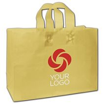 """Printed Chamois Frosted Flex-Loop Shoppers, 16 x 6 x 12"""""""