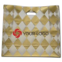 """Printed Harlequin Frosted Die-Cut Shoppers, 16 x 6 x 15"""""""