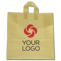 """Printed Chamois Frosted Flex-Loop Shoppers, 17 x 7 x 18"""""""