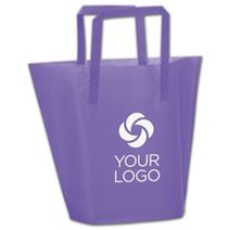 Printed Purple Frosted High-Density Trapezoid Shoppers