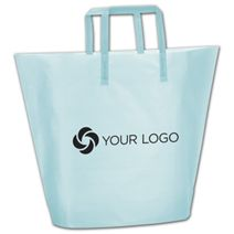Printed Aqua Frosted High-Density Trapezoid Shoppers