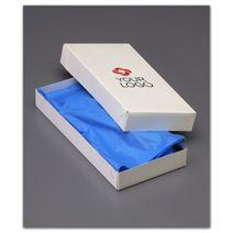 "Printed White Two-Piece Apparel Boxes, 11 1/2x5 1/2x1 1/2"""