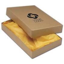 "Printed Kraft Two-Piece Apparel Boxes, 17x11x2 1/2"""