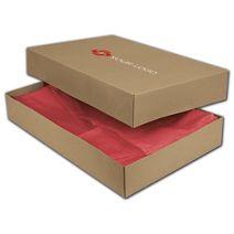 "Printed Kraft Two-Piece Apparel Boxes, 19x12x3"""