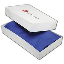 "Printed White Two-Piece Apparel Boxes, 24x14x4"""