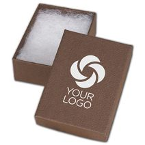 """Printed Cocoa Jewelry Boxes, 3 1/16 x 2 1/8 x 1"""""""