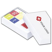"""Printed White Gift Card Boxes, 3 1/2 x 2 1/4 x 3/4"""""""