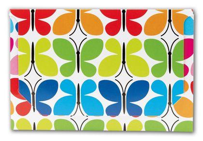 """Butterfly Pop-Up Gift Card Folders, 5 x 3 3/8 x 1/8"""""""