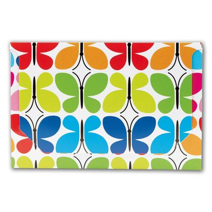 Butterfly Pop-Up Gift Card Folders, 5 x 3 3/8 x 1/8""