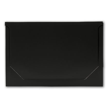 Solid Black Pop-Up Gift Card Folders, 5 x 3 3/8 x 1/8""