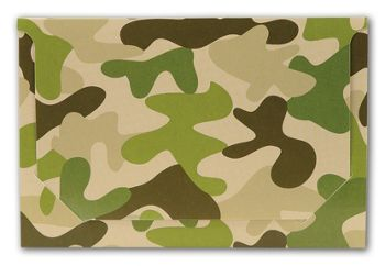 Camo Pop-Up Gift Card Folders, 5 x 3 3/8 x 1/8