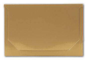 Solid Gold Pop-Up Gift Card Folders, 5 x 3 3/8 x 1/8