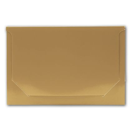 Solid Gold Pop-Up Gift Card Folders, 5 x 3 3/8 x 1/8""