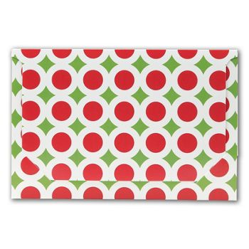 Holiday Dots Pop-Up Gift Card Folders, 5 x 3 3/8 x 1/8
