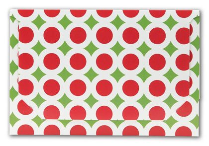 Holiday Dots Pop-Up Gift Card Folders, 5 x 3 3/8 x 1/8""