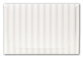 Pearl Stripe Pop-Up Gift Card Folders, 5 x 3 3/8 x 1/8