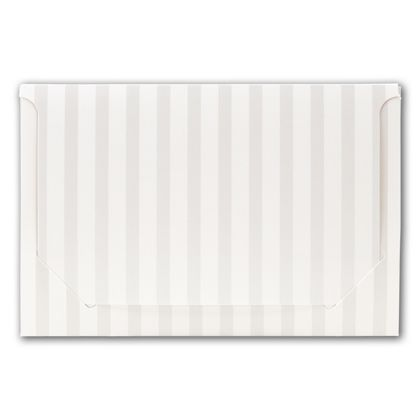 Pearl Stripe Pop-Up Gift Card Folders, 5 x 3 3/8 x 1/8""